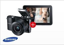 SAMSUNG NX1000 Kit inkl. Galaxy Tab2 8 GB WiFi weiss oder schwarz @ Saturn.de ab 349,00 EUR
