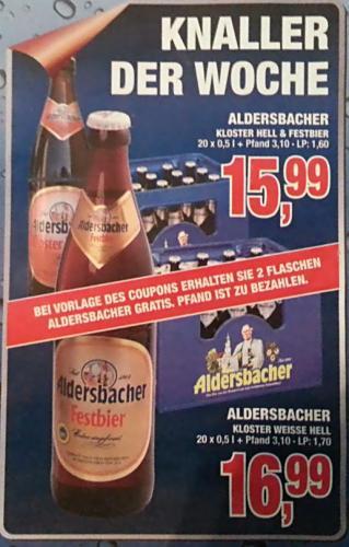 [offline] 2 Flaschen Aldersbacher Bier Gratis @ Hoffmann Getränke (Nord)