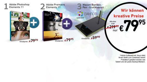 Adobe Photoshop Elements 11 + Premiere Elements 11 + Wacom Bamboo Pen