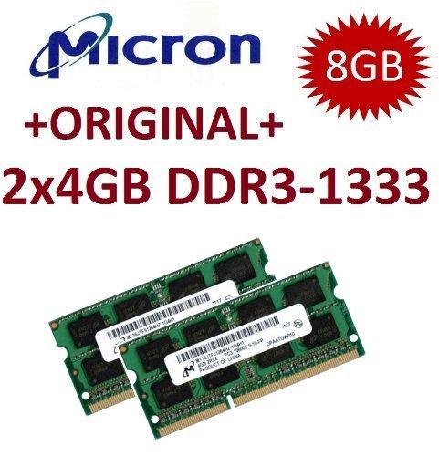 2 x 4GB Micron Original SODIMM 1333MHz @ 39,90