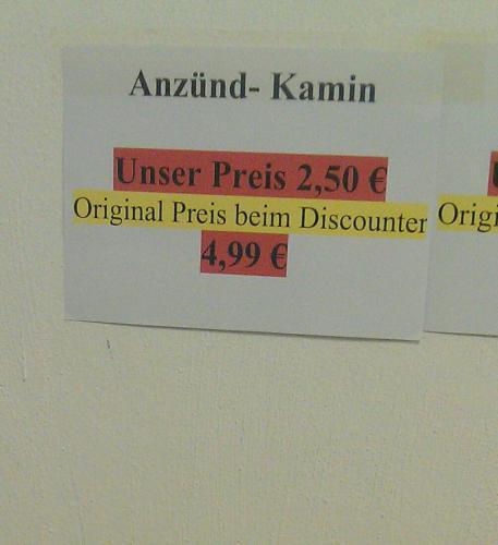[Lokal Kaes Frischdienst Viersen] Anzündkamin für unschlagbare 2,50 Euro