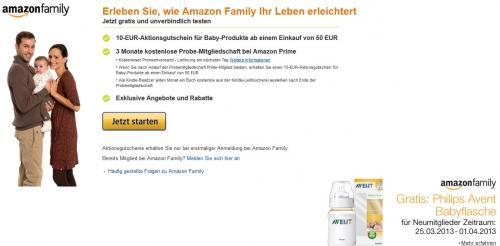 Amazon Family --- Gratis Philips Avent Babyflasche ---- Bei Neuanmeldung!