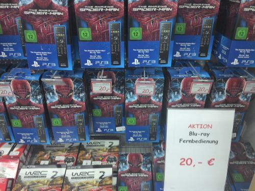 Lokal Medimarkt LB/Tamm-PS3 fernbedienung+The Amazing Spiderman Bluray 20€
