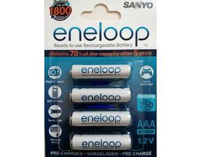 8 x Eneloop HR-4UTGB AAA Akkus @meinpaket für 10,75 €