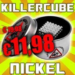 Killercube Magnet, Nickel für €11,98 (statt €19,98) @ magnetportal.de