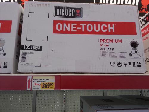 Weber One Touch Premium 57cm für 140€ bei Max Bahr in Kassel