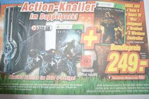Xbox 360 Halo 4 Edition + Halo 4 + Gears of War Judgement + 2 Wireless Controller [Bundesweit?]