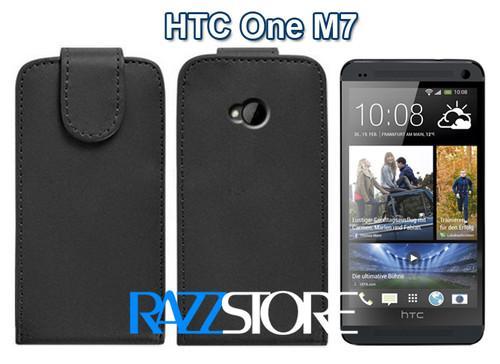 Leder Flipcase für HTC One M7