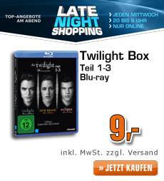 Twilight 1-3 (Blu-Ray / DVD) für 9€ inkl. VSK @Saturn