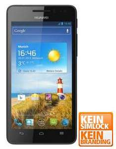 Huawei Ascend G 615 schwarz, 1.4 GHz Quad-Core-Prozessor, 8 GB interner Speicher, microSD, 4.5'' / 1280 x 720 Pixel / 330 PPI Display - [notebooksbilliger.de]