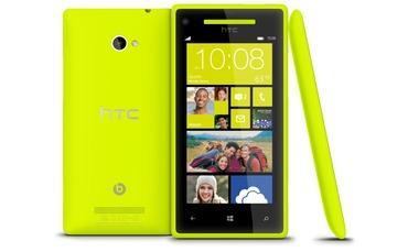 HTC Windows Phone 8X Limelight Yellow für 264,78 EUR