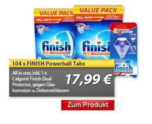 2x52 Finish Powerball All in 1 Tabs + 1x Calgonit Finish Dual (17,99 € vk-frei)