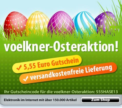 Versandkostenfreiheit (alle Zahlungsarten) + 5,55 € Gutschein bei voelkner.de