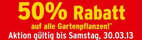 50% auf alle Gartenpflanzen bei Max Bahr !