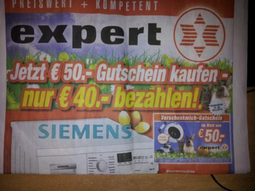 [lokal Würzburg]x09Bei Expert Beck 50 Euro Gutschein für 40 Euro kaufen