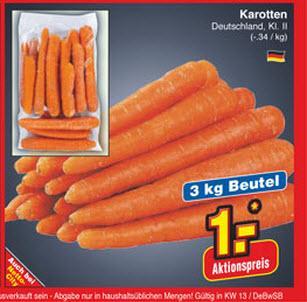 3Kg für 1€ Möhren @Netto Ellwangen