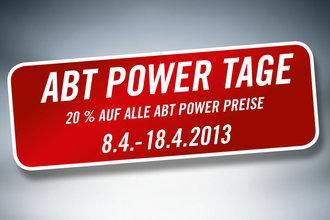[Tuning] ABT POWER TAGE - 20 Prozent Rabatt auf alle ABT Power-Preise 8-18.4.13