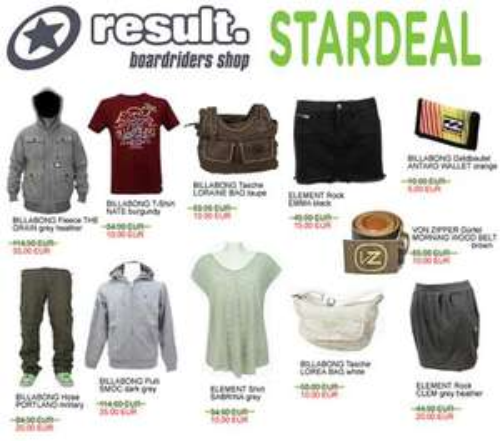 Stardeals bei result24.com { Je T-Shirt, Jeans, Mütze,... ab 10€/Stück} [Verfügbare Größen: S-L]  + 5% Qipu