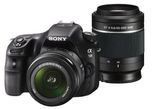 Sony Alpha 58 + 18-55mm + 55-200mm Objektive (SLT-A58Y) für 580,66 € @Amazon.es | SLTA58K - Kit mit 18-55mm für 428,25 €