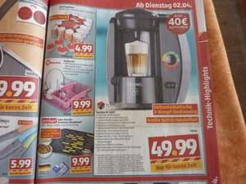 "Tassimo Gerät KF4000 (""T40"") für effektiv nur 9,99 €    @penny [offline]"