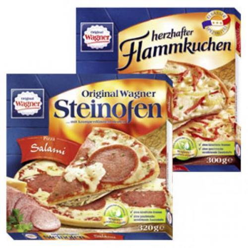 [REWE Prospekt] Original Wagner Steinofen Pizza, Pizzies oder Flammkucken (verschiedene Sorten)