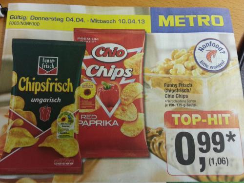 (Offline) Ungarische Woche bei der Metro - Funny Chipsfrisch / Chio Chips 175g zum Spitzenpreis