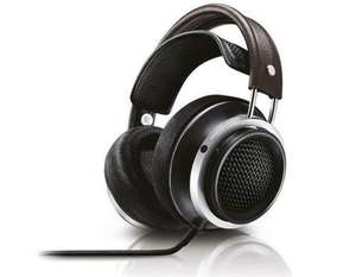 [AMAZON.IT] Philips X1/00 Fidelio Premium HiFi-Stereokopfhörer aus hochwertigem Leder, 50 mm Neodym-Treiber / schwarz-braun-silber