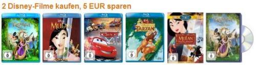 (Amazon) 2 Disney-Filme kaufen, 5 EUR sparen