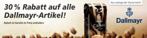 Kaffee-Junkies aufgepasst! 30% auf alle Dallmayr Artikel @,-real