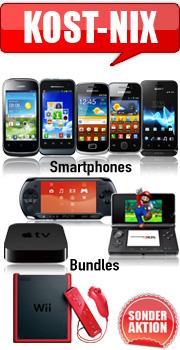 [Handybude] Sonder-Aktion KOST-NIX: z.B. Apple TV oder Samsung Galaxy kostenlos!