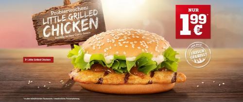 [Burger King] Little Grilled Chicken im Probierpreis einzeln für 1,99€