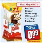 4er Ferrero Kinder Maxi King bei rewe für 0,99 EUR