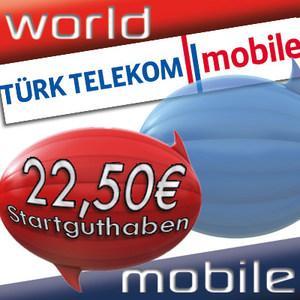 Diesmal für Türkei-Urlauber! Türk Telekom Mobile O2 22,50€ Startguthaben