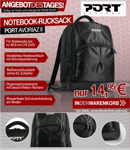 """PORT Avoriaz II Notebookrucksack bis 40,6cm (16"""") mit Organizerbereich für nur 14,95€ inkl. Versand"""