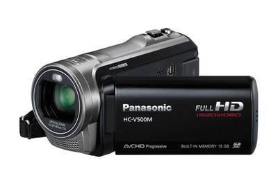 Panasonic HC-V500M Full-HD-Camcorder schwarz (HC-V500MEG-K)