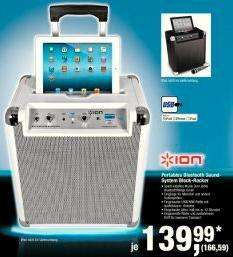 Ion iPA66 Blockrocker All-In-One Audiosystem (Radio, Bluetooth, UKW-Tuner, USB) weiß [METRO]