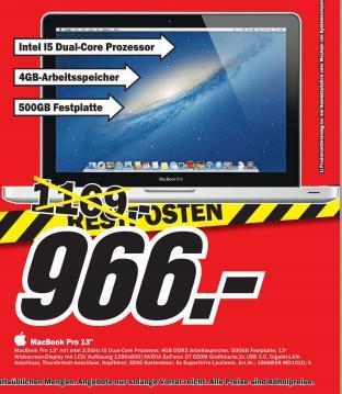 """[Lokal] MacBook Pro 13"""" im MM Heppenheim!"""