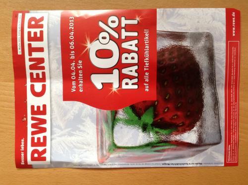 [Lokal] REWE 10% auf alle Tiefkühlartikel