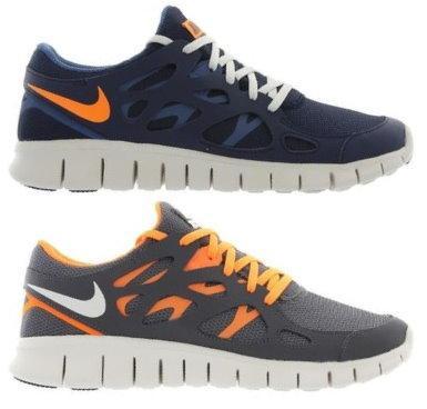 Nike Free Run+ 2 Running Mens in Grau-Orange/Blau-Orange für 67,31 € statt 119,95 Versandkostenfrei