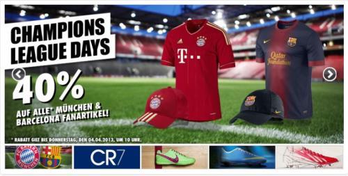 FC Bayern München/FC Barcelona Trikots und Fanartikel 40% reduziert!