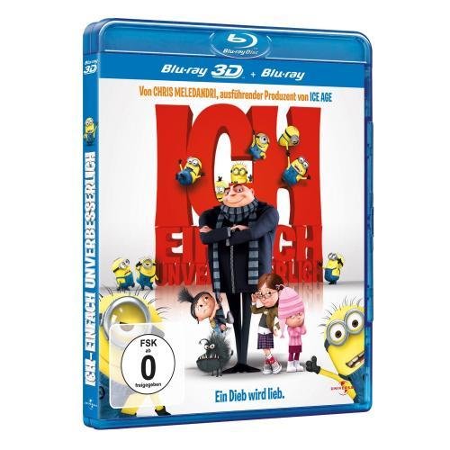 Ich - Einfach unverbesserlich (+ Blu-ray 3D) [Blu-ray] für 8,90€ @Amazon