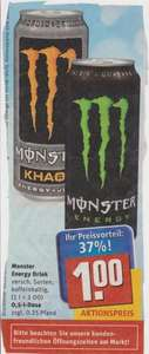 Monster Energy Drink bei REWE