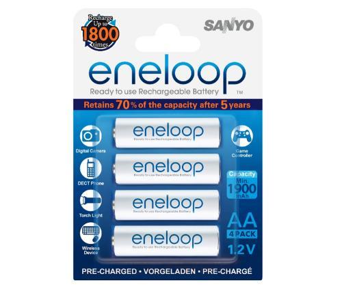 8x Sanyo Eneloop HR-4UTGB AAA