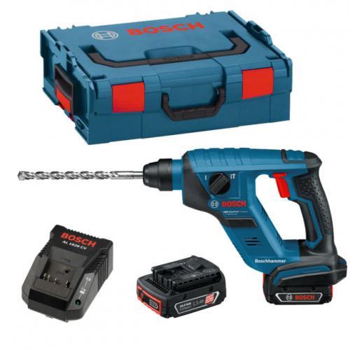 Bosch Akku-Bohrhammer GBH 14,4V-LI in L-Boxx 2 x Li-Ion Akkus 1,5Ah,Schnellladegerät AL1820CV,L-Boxx  @EBAY 199€