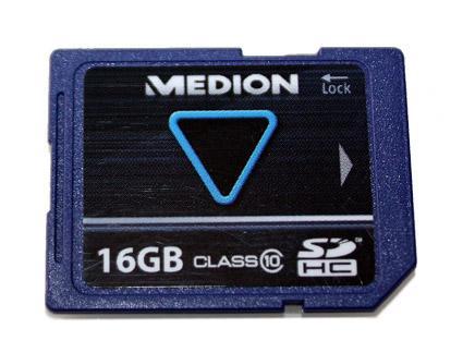 Medion 16GB SDHC Speicherkarte Class 10 für nur 8,90 EUR inkl. Versand