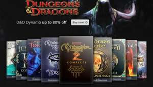 [GOG] Neverwinter Nights 1&2, Baldur's Gate 1&2, and other Dungeons&Dragons Hasbro classics up to 80% off