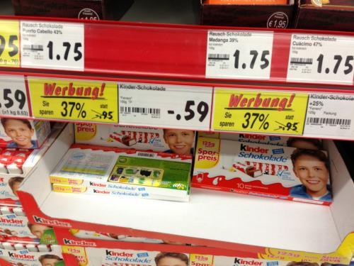 (Kaufland Hechingen) Kinderschokolade 125 g für 0,59 Eur.