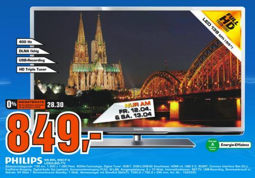 (lokal) Philips 55PFL5007k für 849 Euro in Kölner Saturnmärkten nächstes Wochenende