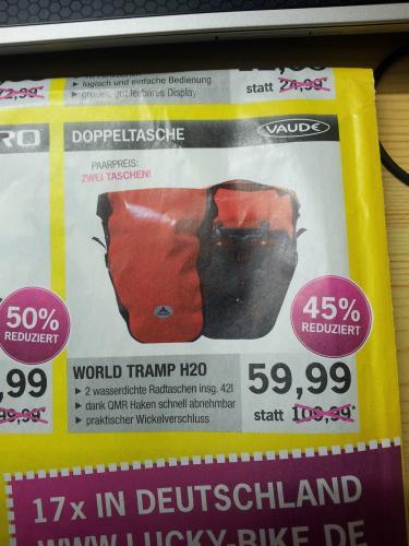 [Lokal DO] Vaude World Tramp H20 Fahrrad-Doppeltasche