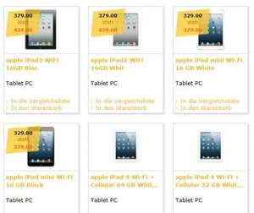 Ipad Mini bei Fust.ch für CHF 329=EUR 269